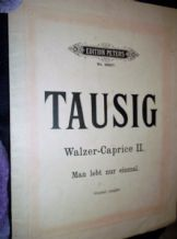 RARE ANTIQUE SHEET MUSIC BOOKLET TAUSIG WALZER CAPRICE II EDITION PETERS 2559b